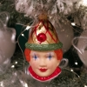 Harlekin, Clown 9cm Schatzhauser Glas und Weihnachtsschmuck
