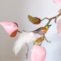 Minivogel Vögelchen 5,5cm blau gold grün Schatzhauser - Lauschaer Glaskunst, Thüringer Weihnachtsschmuck