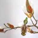Minivogel Vögelchen 5,5cm grün olivgrün Schatzhauser - Lauschaer Glaskunst, Thüringer Weihnachtsschmuck
