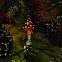 Anderswelt Fliegenpilz 11cm Inge-Glas®Schmuck Gnome und Feen