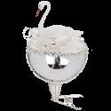 Schwan im Nest 9 cm Inge-Glas® Nostalgischer Weihnachtsschmuck