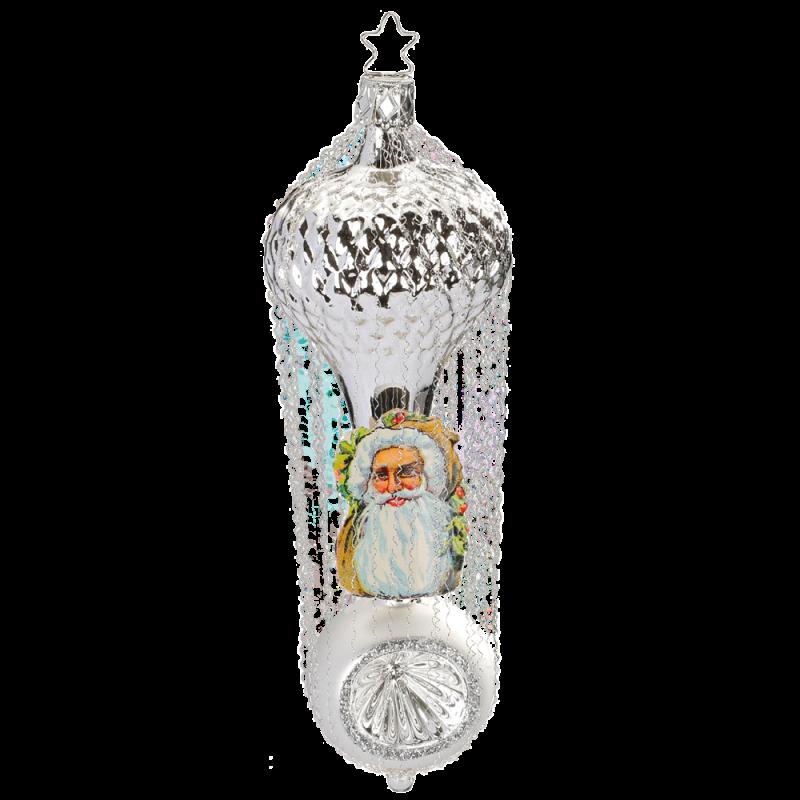 Waffelballon 15,5cm Inge-Glas® Nostalgischer Weihnachtsschmuck
