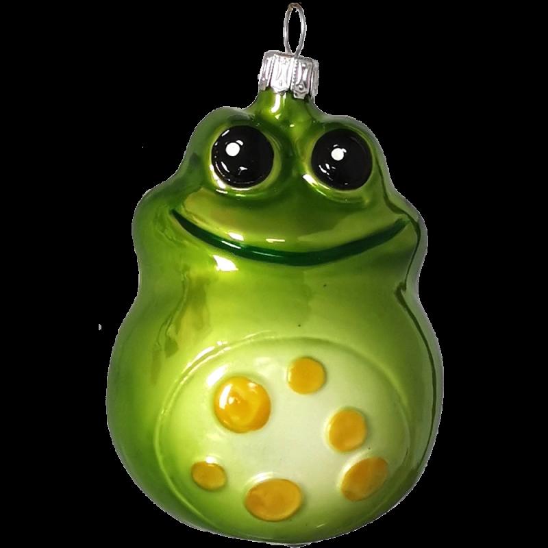 Fred Frosch 9cm grün Inge-Glas® Schmuck Weihnachtsschmuck
