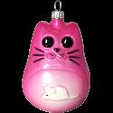 Karla Katze 9cm pink Inge-Glas® Schmuck Weihnachtsschmuck