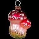 Fliegenpilz 7cm Schatzhauser Thüringer Glas und Weihnachtsschmuck