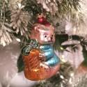 Bär mit Geschenk 8cm Schatzhauser Thüringer Glas und Weihnachtsschmuck
