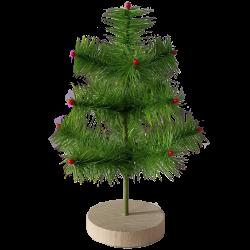 Gansfederbaum 20cm auf Holzsockel Nostalgischer Weihnachtsschmuck