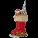 Nikolausstiefel 15cm rot dekoriert Nostalgischer Weihnachtsschmuck