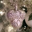 Traube silbern viktorianisch 7,5cm Inge-Glas® Nostalgischer Weihnachtsschmuck