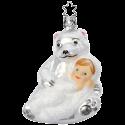 Kuschelbär Schneekind 10cm Inge-Glas Schneekinder Weihnachtsschmuck