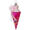 Zuckertüte für Mädchen pink 14,5cm Inge-Glas und Christbaumschmuck