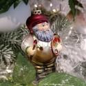 Santa der Künstler 11cm Schatzhauser Thüringer Glas und Weihnachtsschmuck
