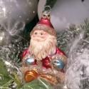 Weihnachtsmann sitzend 9cm Schatzhauser Thüringer Glas und Weihnachtsschmuck