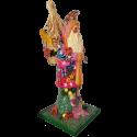 Santa Hawaii 46cm Pappmaché Nostalgischer Weihnachtsschmuck