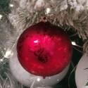 Weihnachtskugel Ø 6cm rot Softeffekt Schatzhauser Thüringer Glas und Weihnachtsschmuck