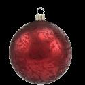 Weihnachtskugel Ø 6cm dunkelrot Softeffekt Schatzhauser Thüringer Glas und Weihnachtsschmuck