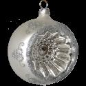Reflexkugel silber matt Ø8cm Schatzhauser Thüringer Glas und Weihnachtsschmuck