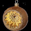Reflexkugel gold matt Ø8cm Schatzhauser Thüringer Glas und Weihnachtsschmuck