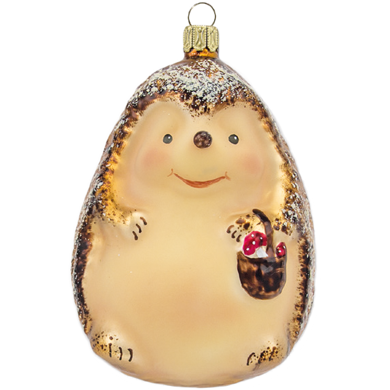 Igel 10cm Schatzhauser, Thüringer Glas und Weihnachtsschmuck