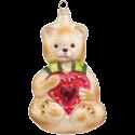 Teddy mit Herz 12cm Schatzhauser Glas und Weihnachtsschmuck