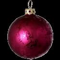 Weihnachtskugel Ø 6cm cyan Softeffekt Schatzhauser Thüringer Glas und Weihnachtsschmuck