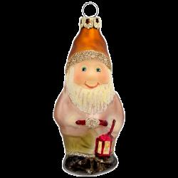 Zwerg mit Laterne 8cm Schatzhauser Thüringer Glas und Weihnachtsschmuck