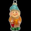 Zwerg mit Eimer 8cm Schatzhauser Thüringer Glas und Weihnachtsschmuck
