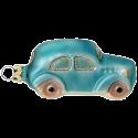 Auto türkis 7,5cm Schatzhauser Thüringer Glas und Weihnachtsschmuck
