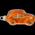 Auto orange 7,5cm Schatzhauser Thüringer Glas und Weihnachtsschmuck