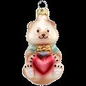 kleiner Bär mit Herz 7cm Schatzhauser Thüringer Glas und Weihnachtsschmuck