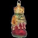 Teddy im Schuh 10cm Schatzhauser Thüringer Glas und Weihnachtsschmuck