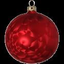 Weihnachtskugel 6 St. / Box Eislack rot Schatzhauser Thüringer Glas und Weihnachtsschmuck