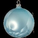 Weihnachtskugel 6 St. / Box Eislack hellblau Schatzhauser Thüringer Glas und Weihnachtsschmuck