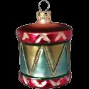 Trommel Ø 5cm Schatzhauser Thüringer Glas und Weihnachtsschmuck