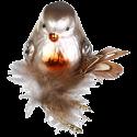 Vogel Brownie 6,5cm Inge-Glas® Weihnachtsschmuck