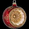 Reflexkugel stierblut rot glanz Ø8cm Schatzhauser Thüringer Glas und Weihnachtsschmuck