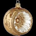 Reflexkugel gold glanz Ø8cm Schatzhauser Thüringer Glas und Weihnachtsschmuck