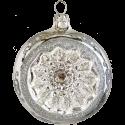 Reflexkugel silber glanz Ø8cm Schatzhauser Thüringer Glas und Weihnachtsschmuck