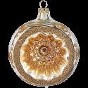 Reflexkugel silber/gold glanz Ø8cm Schatzhauser Thüringer Glas und Weihnachtsschmuck