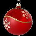 Weihnachtskugeln Set, 6 rote Kugeln Ø 8cm Kristallwelle, Thüringer Glas Weihnachtsschmuck