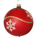 Weihnachtskugeln Mix-Box, 6 rote Kugeln Ø 8cm, Thüringer Glas Weihnachtsschmuck