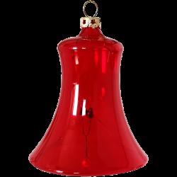 Glocke transparent rot Thüringer Glas Schatzhauser Weihnachtsschmuck