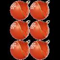 Weihnachtskugeln Set, 6 orange Kugeln Ø 8cm Kristallwelle, Thüringer Glas Weihnachtsschmuck