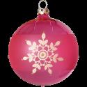 Weihnachtskugeln Set, 6 kirschblüte Kugeln Ø 8cm Kristallblüten, Thüringer Glas Weihnachtsschmuck