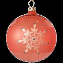 Weihnachtskugeln Mix-Box, 6 hummer farbige Kugeln Ø 8cm, Thüringer Glas Weihnachtsschmuck