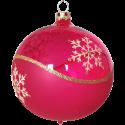 Weihnachtskugeln Set, 6 pinke Kugeln Ø 8cm Kristallwelle, Thüringer Glas Weihnachtsschmuck