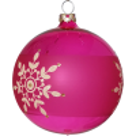 Weihnachtskugeln Mix-Box, 6 pink farbige Kugeln Ø 8cm, Thüringer Glas Weihnachtsschmuck