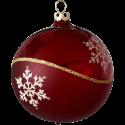 Weihnachtskugeln Set, 6 stierblut Kugeln Ø 8cm Kristallwelle, Thüringer Glas Weihnachtsschmuck