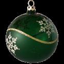 Weihnachtskugeln Set, 6 tanne Kugeln Ø 8cm Kristallwelle, Thüringer Glas Weihnachtsschmuck