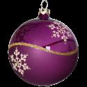 Weihnachtskugeln Set, 6 heide Kugeln Ø 8cm Kristallwelle, Thüringer Glas Weihnachtsschmuck